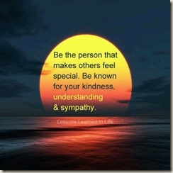 Be the person ...